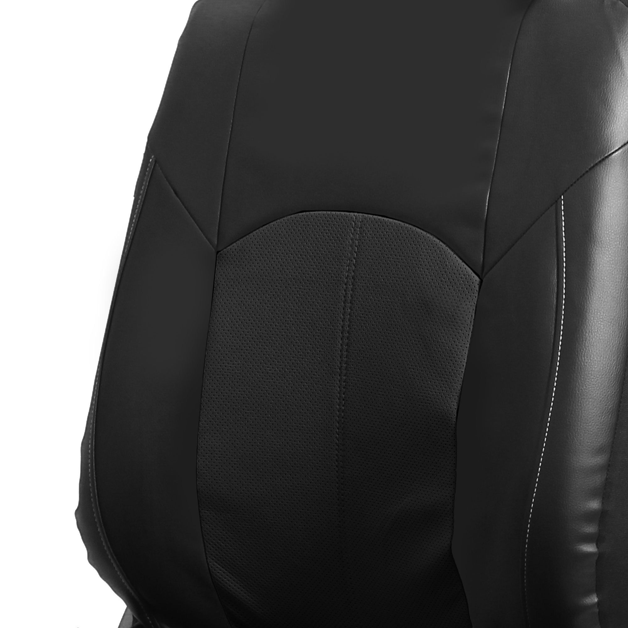 Fh Group Fhpu008115 Perforated Leatherette Full Set Car Seat Covers Airbag Caraccessoriesideas Leather Seat Covers Leather Seat Custom Seat Covers