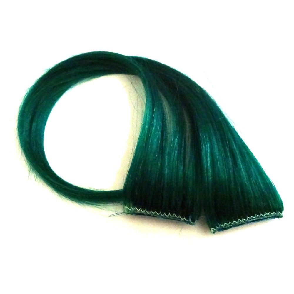 14 Clip In Human Hair Streaks Clover At I Kick Shins Green And