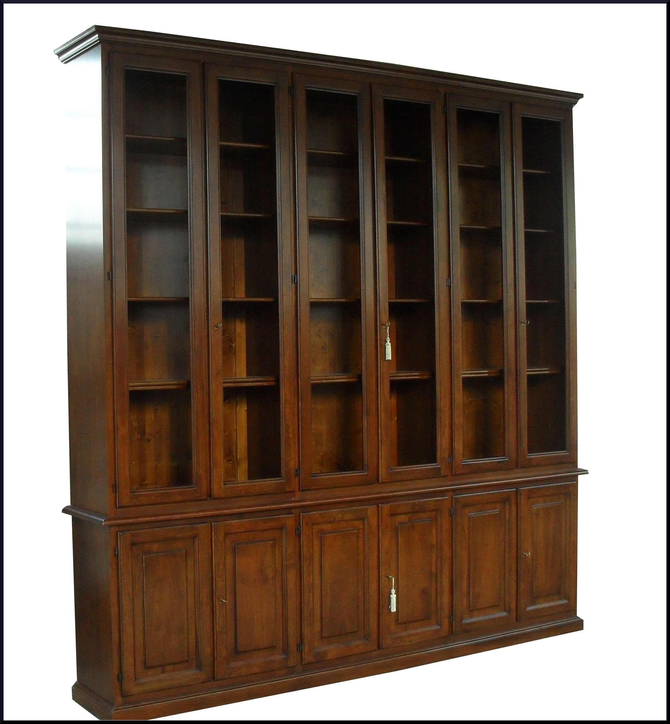 Libreria artigianale da ufficio in noce massello for Libreria da ufficio