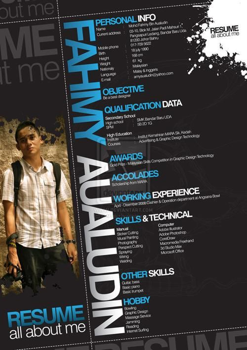 the 40 most creative resume designs ever creative cv graphic