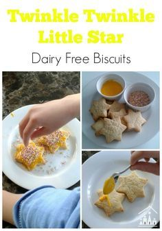 Twinkle Twinkle Little Star Dairy Free Star Biscuits via @craftykidsathome