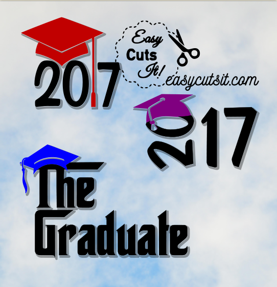 2017 & The Graduate ~ SVG, DXF, EPS, PDF & Studio Compatible with Cricut Explore, Silhouette Cameo and more! Available for 2018 also!!
