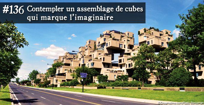 Contempler un assemblage de cubes qui marquent l'imaginaire, Habitat 67, Montréal - Québec, Canada