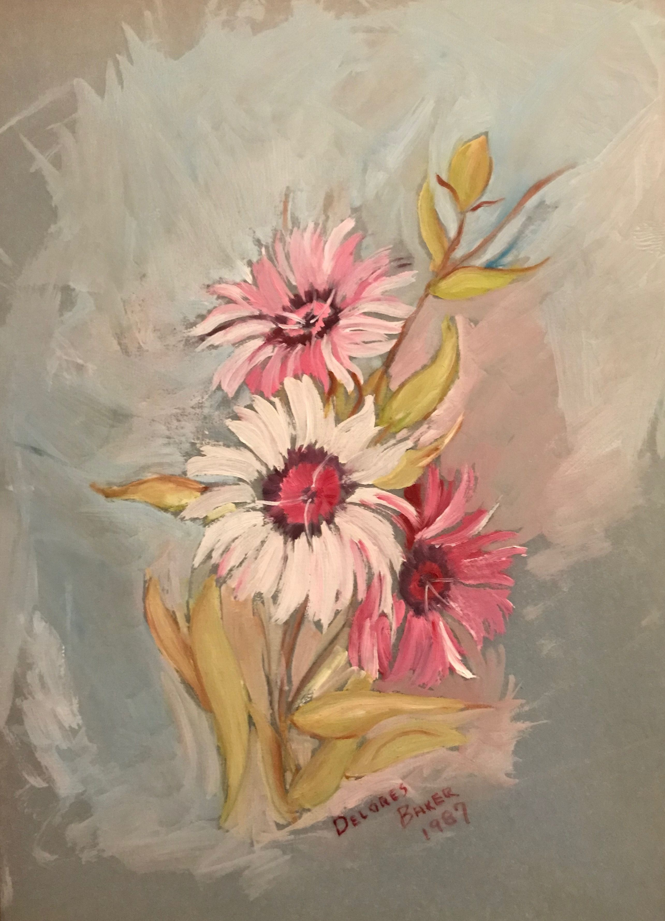 Oil On Tracing Paper Painted By Mom D Baker Family Art