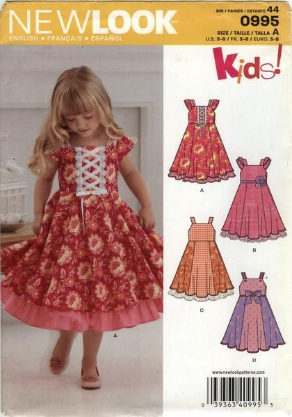 New Look 60 Children's Dress Six Sizes In One Little Girls New Children's Clothing Patterns