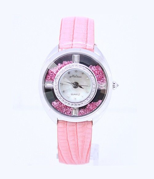 New Fashion Crystal Women's Quartz Watch Pink