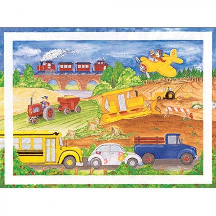 Art 4 Kids Cars, Trucks, Airplanes Wall Art - 21049 | wall art ...