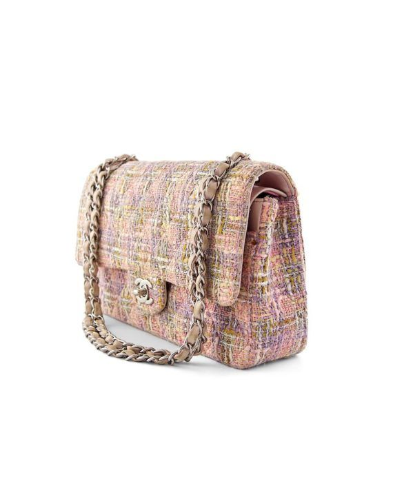 ea6302fe7fc3 Authentic Chanel Tweed Quilted Medium Classic Double Flap Bag at  THEBROWNPAPERBAG.