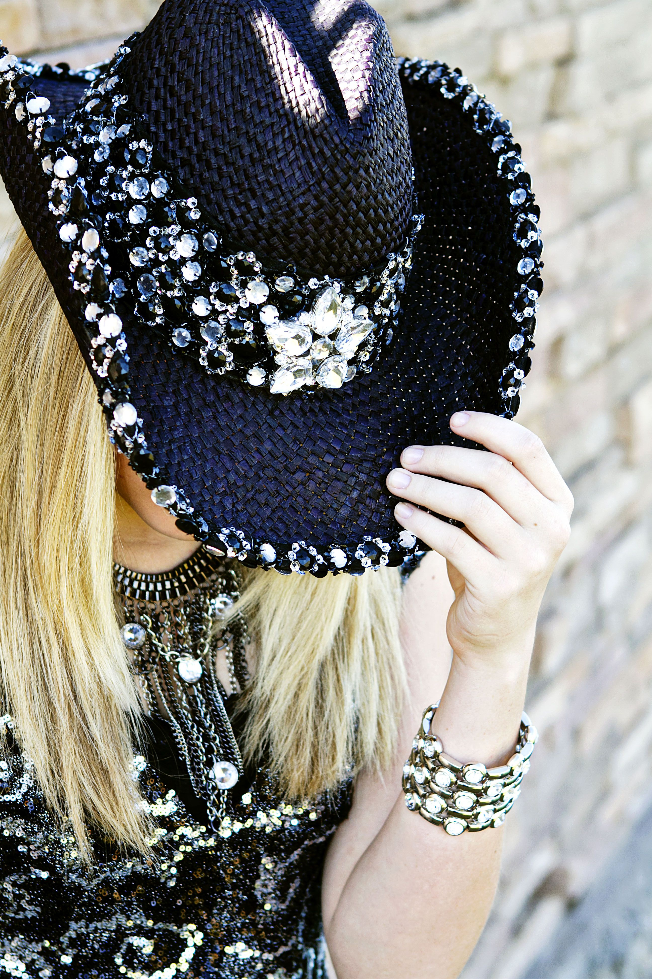 6c4d30efdbc Cool Bling Cowboy hat!  cowboyhatsdiy