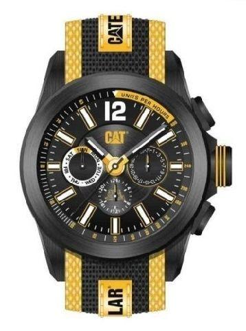 Caterpillar Men's Big Twist Multifunction Watch Yellow   Big