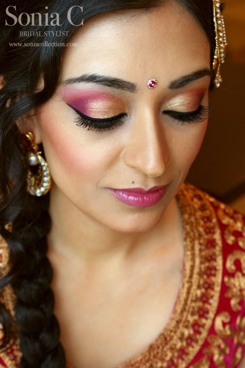 Sonia C, Bridal Stylist, indian bridal makeup. Love the exotic makeup colors!