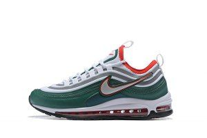 701aa0bf645 Mens Nike Air Max 97 Ultra 17 SE Green Silver Red White 924452 022 Sneakers