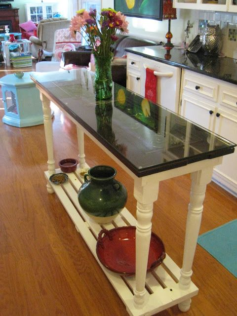 Repurposed For Life: Kitchen island made of piano parts and recycled items