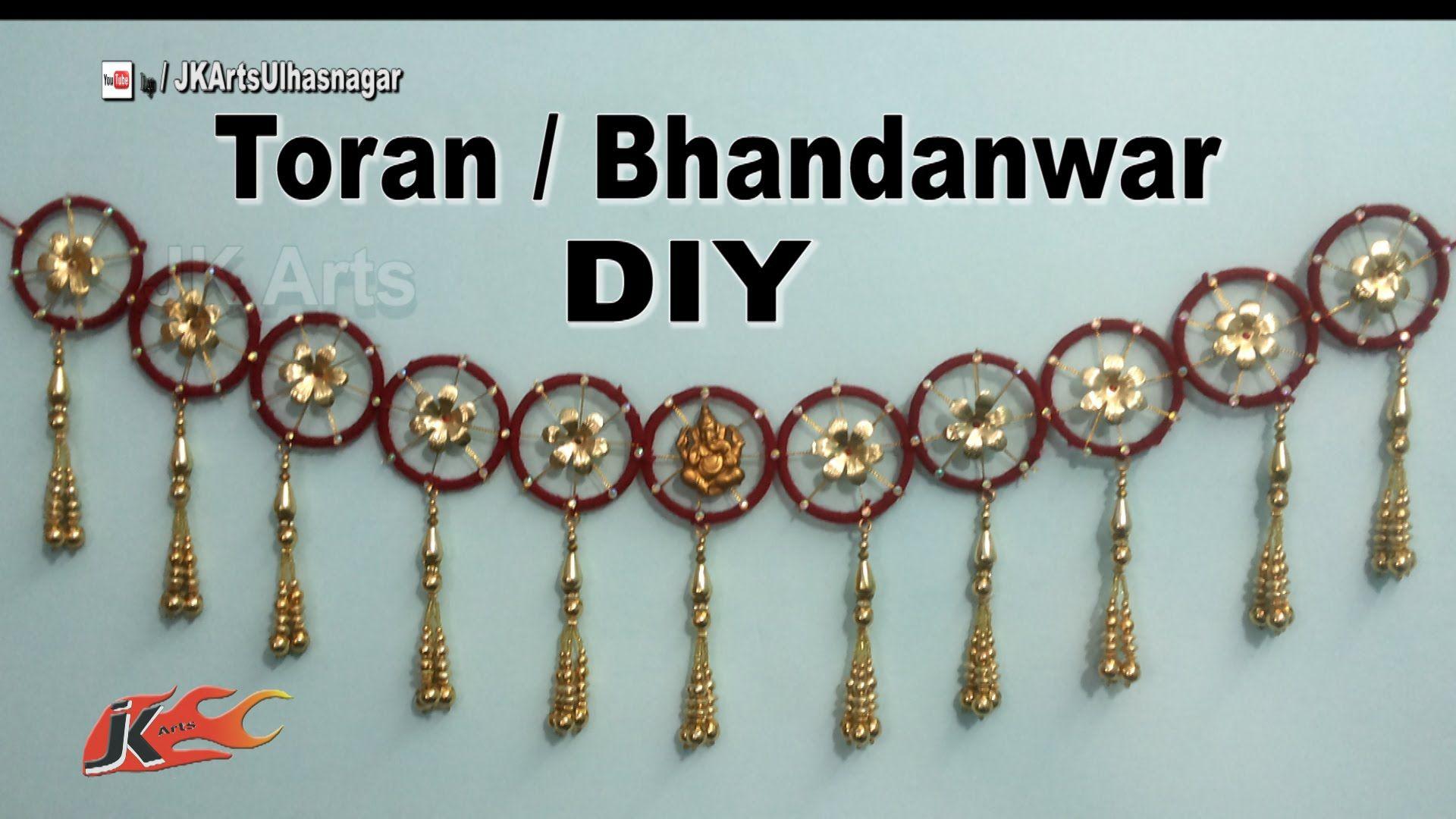 DIY Toran / Bandhanwar from waste bangles | How to make | JK Arts ...