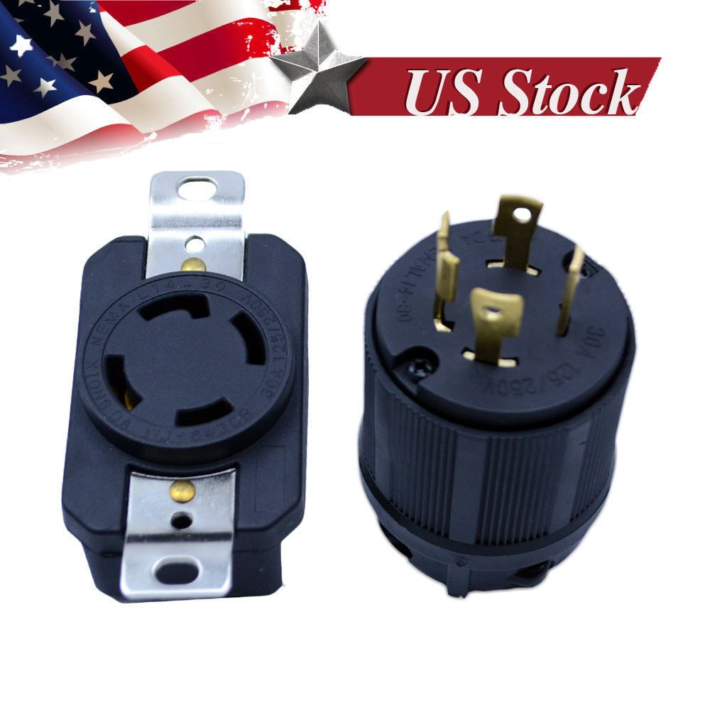 Details About Generator Rv Ac Plug Socket L14 30 30 Amp 120v 220v Male Female Receptacle Plug Socket Ac Plug Plugs