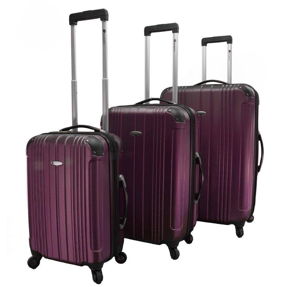 Küchenideen keine hängeschränke dumont avery pc hardside spinner luggage set  burgundy red in