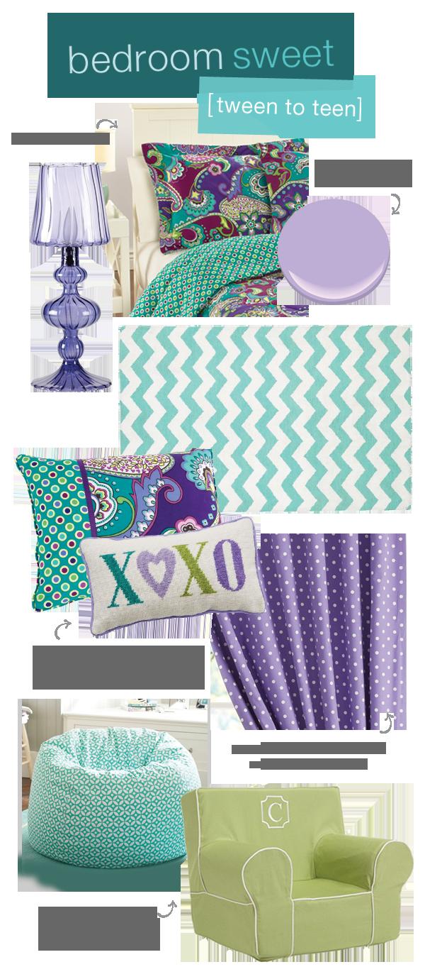 Vera Bradley Teen Bedroom Tween Room Purple Teal Paisley