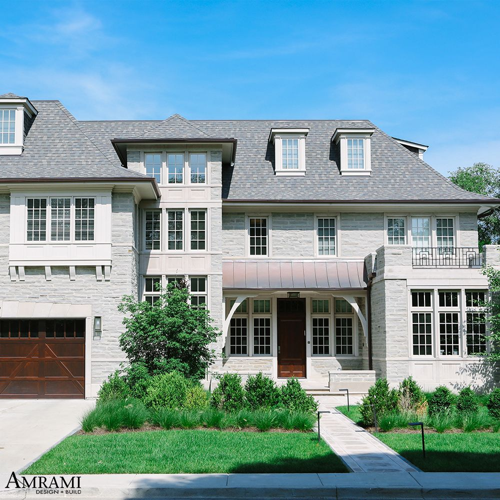 Unique Home Exterior Design: This Stunning Home Exterior Boasts Crafted Stone Work, An