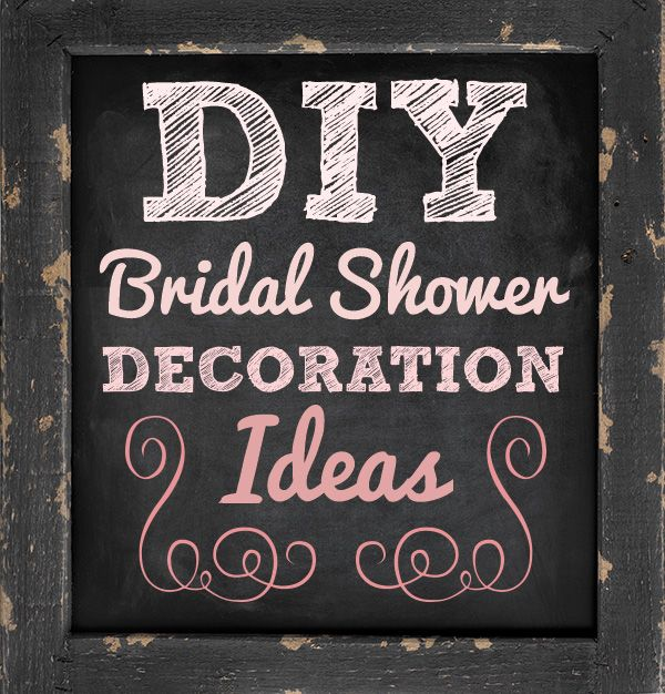 easy diy bridal shower decoration ideas diy wedding bridalshower