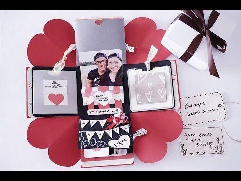 Explosion box birthday box diy handmade falling card – Happy Birthday Cards Youtube
