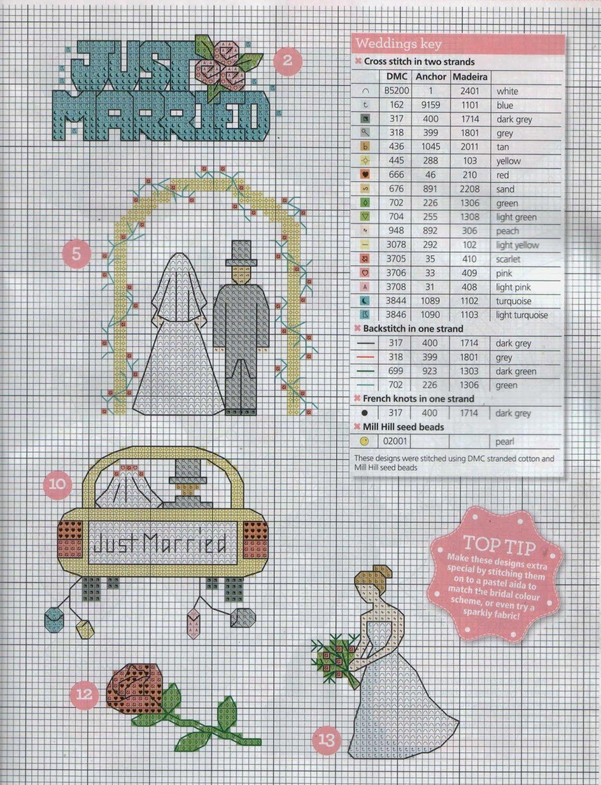 GRAFICOS PUNTO DE CRUZ GRATIS : BODAS | Boda | Pinterest | Wedding ...