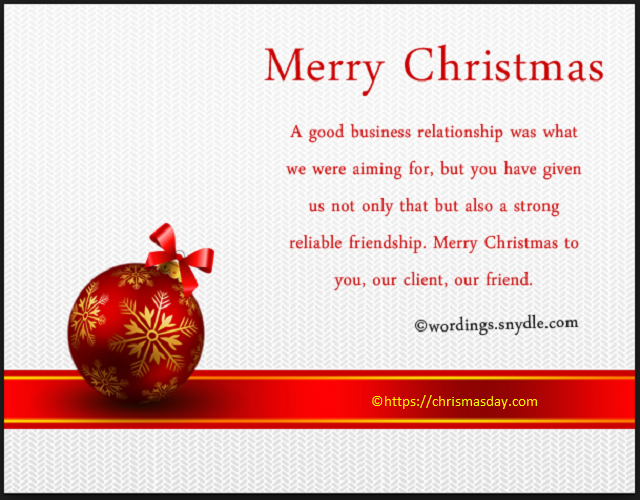 Business Christmas Messages and Greetings Xmas card
