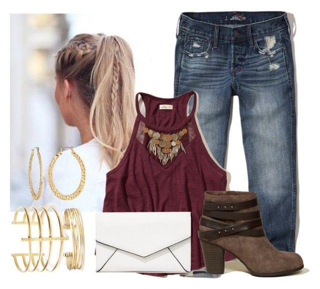 """""""Untitled #722"""" by aubreyspringer ❤ liked on Polyvore featuring Hollister Co., BauXo, Stella & Dot, Fragments and LULUS"""