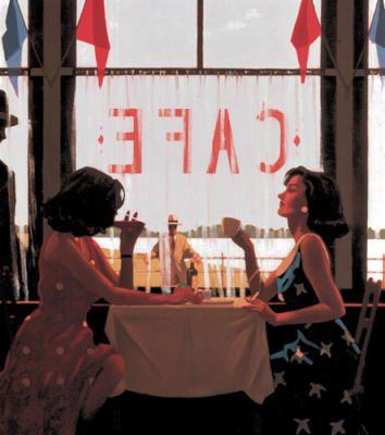 Cafe Days - Jack Vettriano