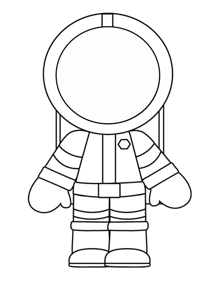 Printable Template For The Astronaut Crafts And Worksheets For