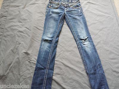 Miss Me JP5130ST Straight Leg Jeans Size 25 X 33