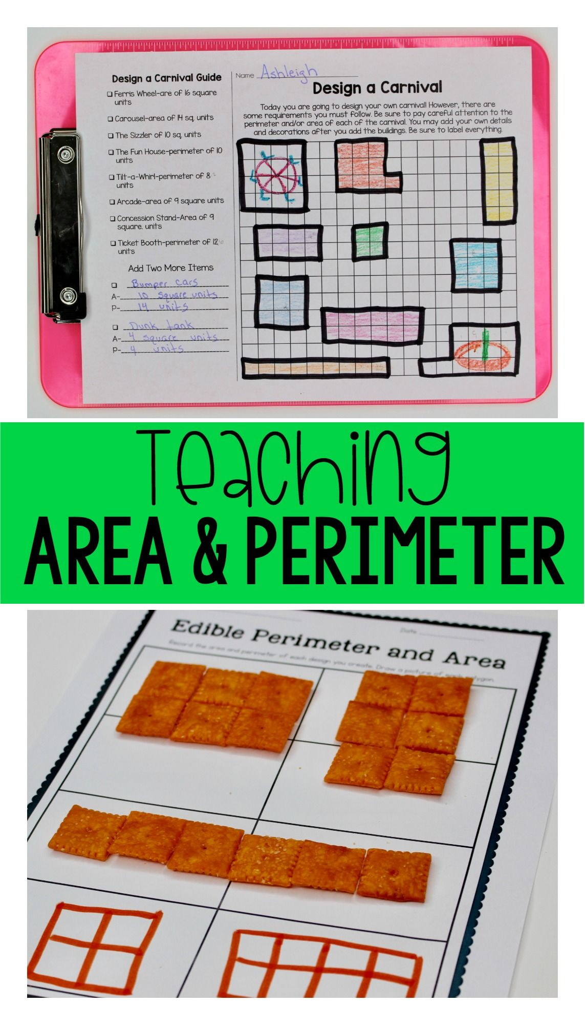 3rd Grade Area And Perimeter Unit For Guided Math Or Math