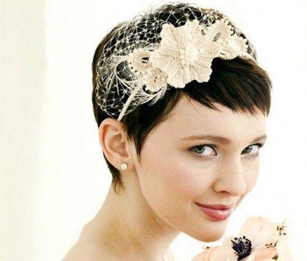 Peinados De Novia Pelo Corto Con Velo