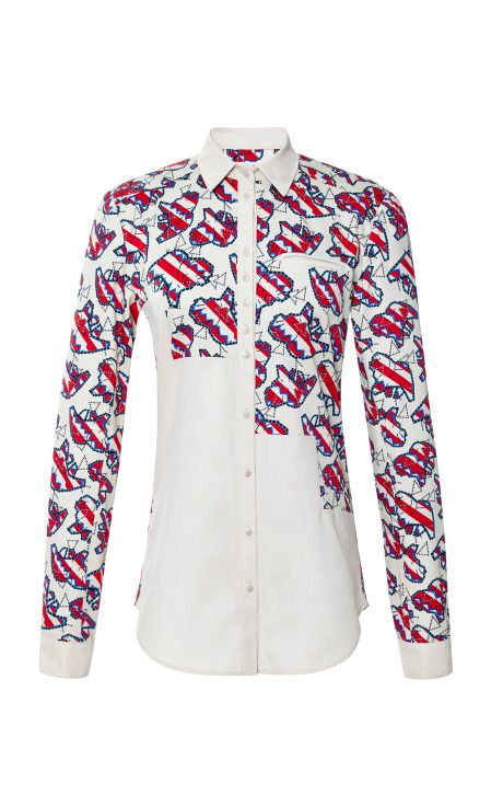 Cotton Poplin Elastic Lilly Print Top by Calla - Moda Operandi
