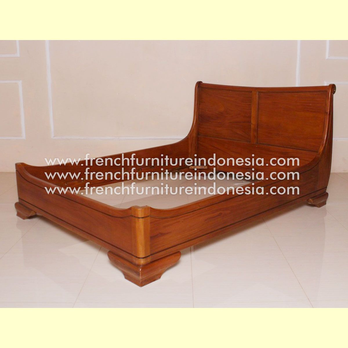 Willow Sleigh Bed Raisa House Indonesia Bedside