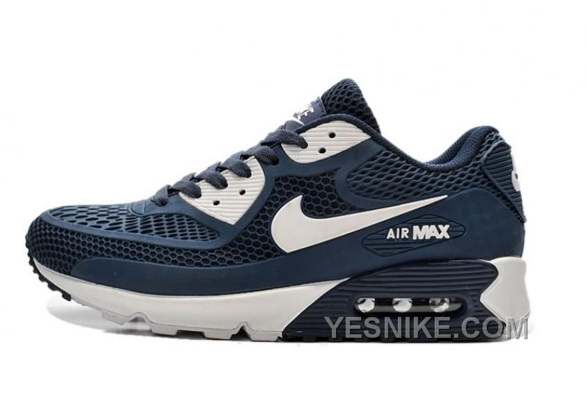 e171a7881ae4 Mens Womens Nike Air Max 90 KPU Dark Blue White Running Shoes Nike Air Max  For