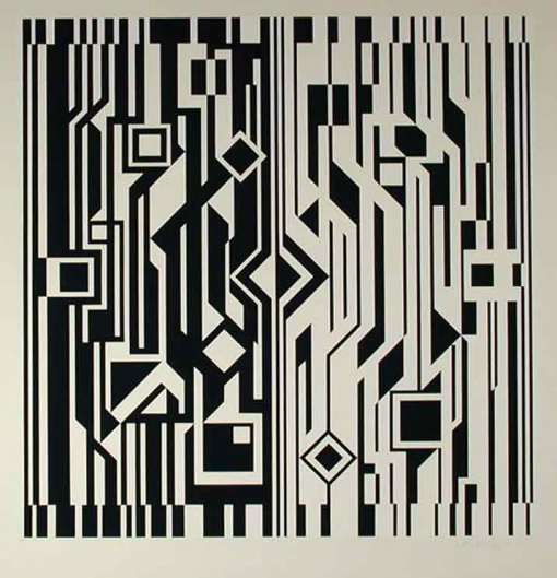 Positive Negative Composition Art Victor Vasarely