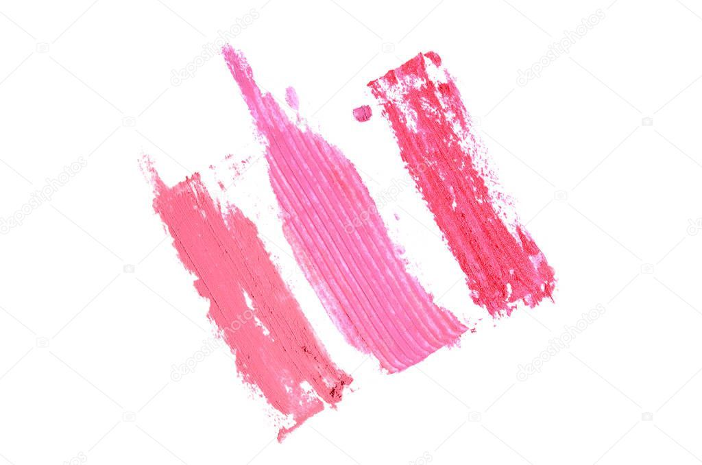 Photo of Smear and texture of lipstick or acrylic paint isolated on white – Stock , #AD, …