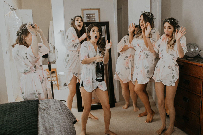 Samantha McFarlen Wedding Photographer Bridesmaid robes getting