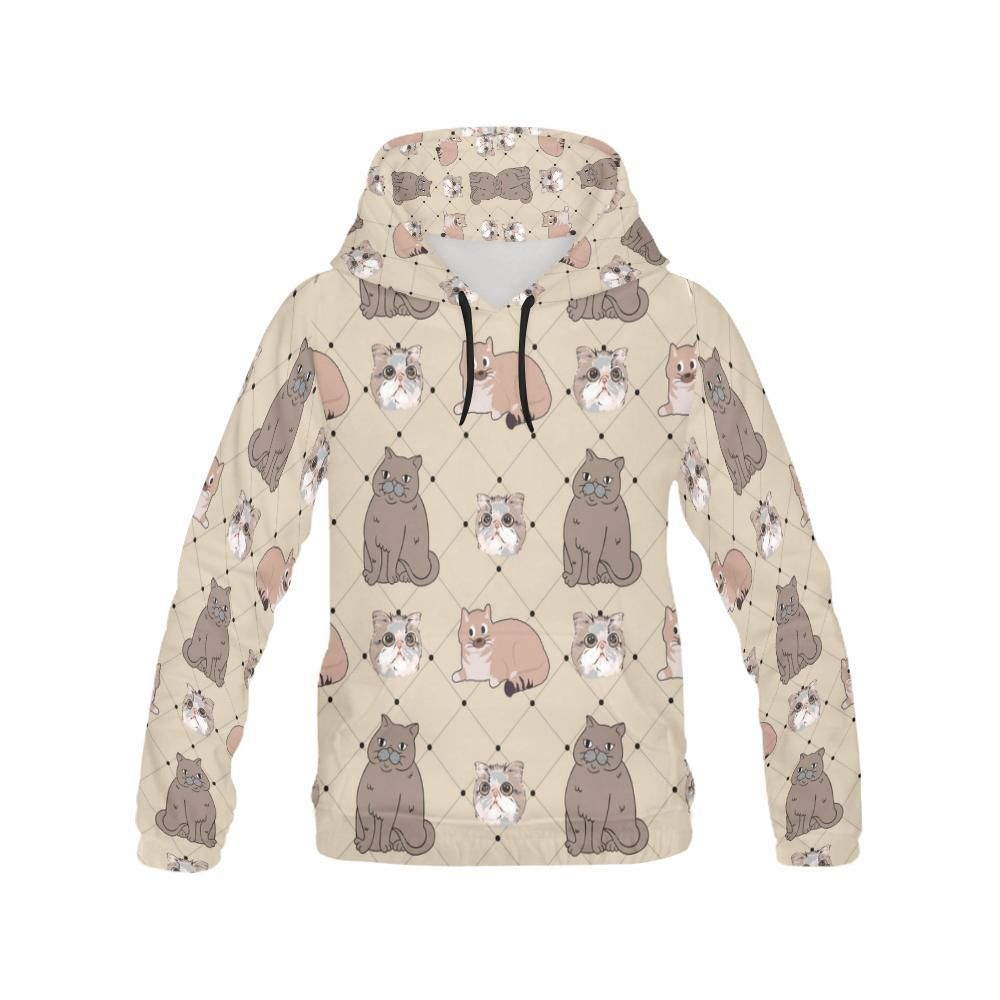 #TeeAmazing - #e-joyer Exotic Shorthair All Over Print Hoodie for Men - AdoreWe.com