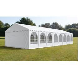 Partyzelt 6x16m PVC 550 g / m² weißes wasserdichtes Gartenzelt, Festzelt, Pavillon Toolport