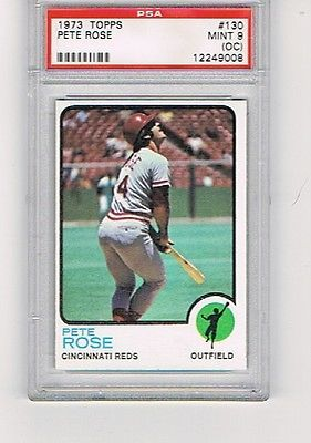 1973 Topps #130 PETE ROSE PSA 9 OC REDS PHILLIES EXPOS 17X ALL-STAR