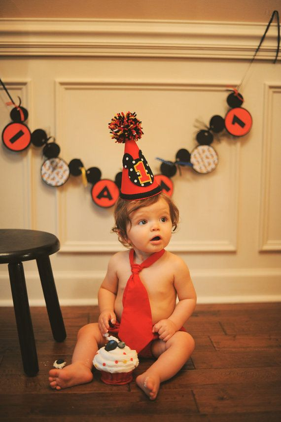 Mickey Birthday Hat And Bib Set First By BibsBurpsNThings On Etsy 2900
