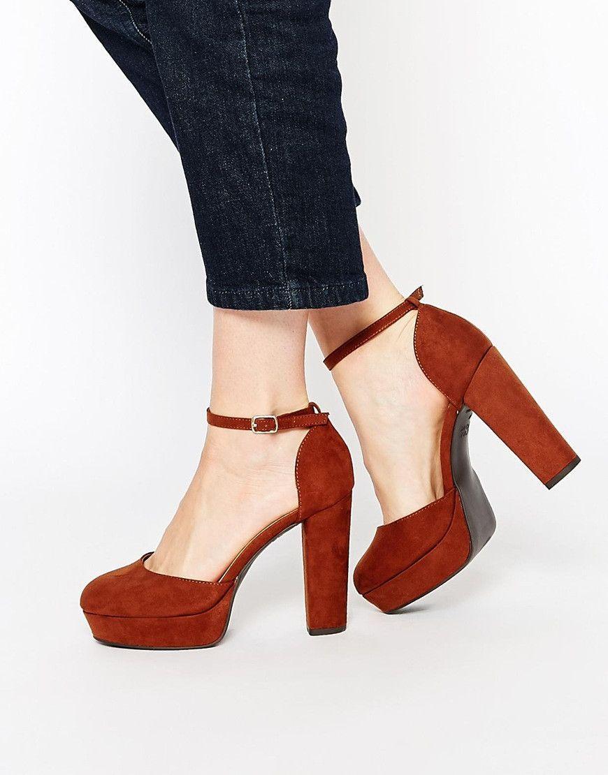 comprar lo mejor niño mejor amado Tacones marrones con plataforma … | Shoes/Fashion | Tacones ...