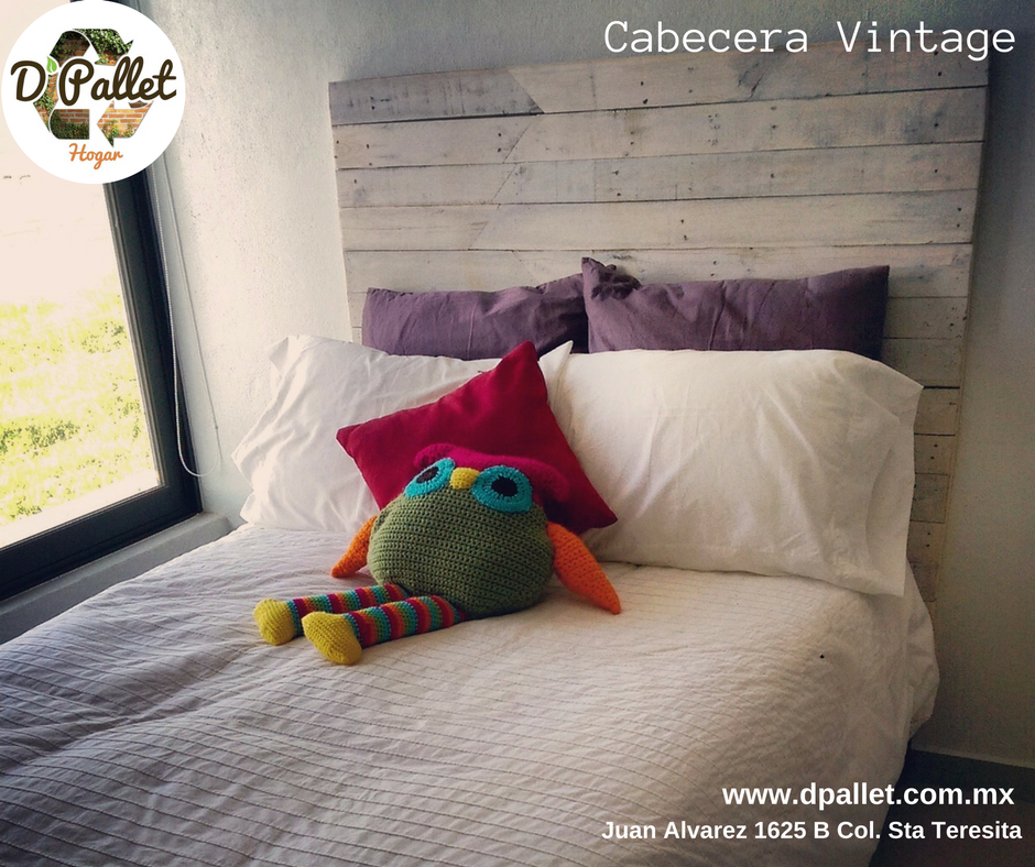 Cabecera vintage #Pallet #Palletfurniture #eco #interiorismo ...