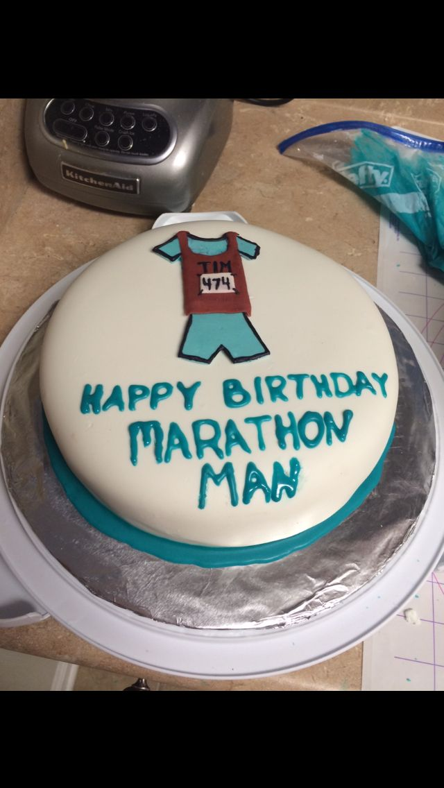 Happy birthday marathon runner cake | I did it ...