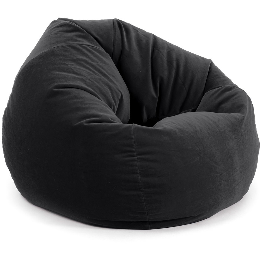 Evolve Faux Suede Teardrop Bean Bag Cover 200L Black in
