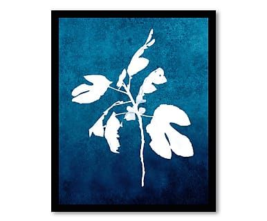 Gerahmtes Bild Fig Branch Blue