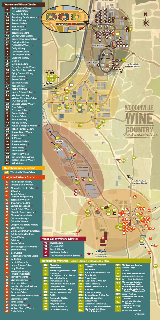 Woodinville Wineries Map Download and print the Woodinville Wine Country map of wineries  Woodinville Wineries Map