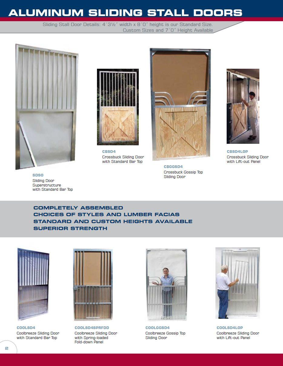 Armour Companies Aluminum Horse Stalls Aluminum Sliding Stall