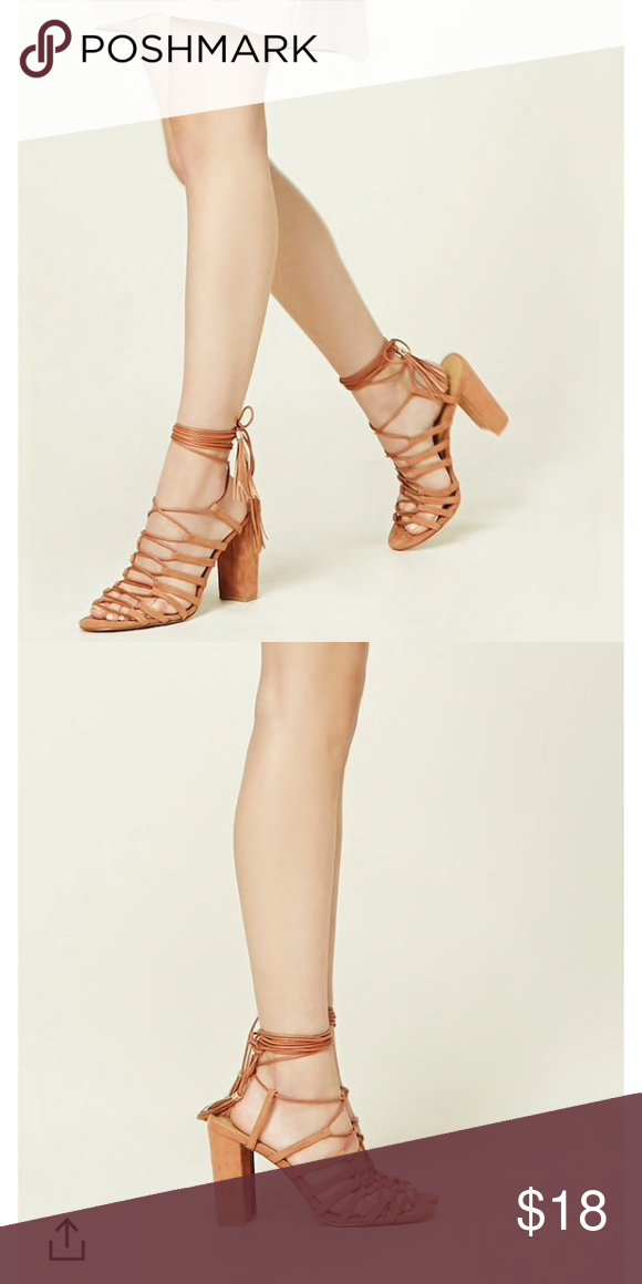 c23fa79f5429 Forever21 Faux Suede Lace up heels 👠Brand new Forever21 faux suede lace up  heels! Size 5.5. Dusty pink color Forever 21 Shoes Heels